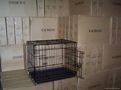 Powder coating dog cage