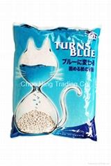 变蓝色纸猫砂