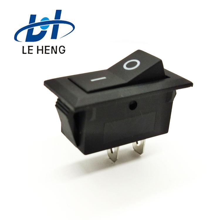 Full black two - leg two - speed electric water heater rocker switch 1