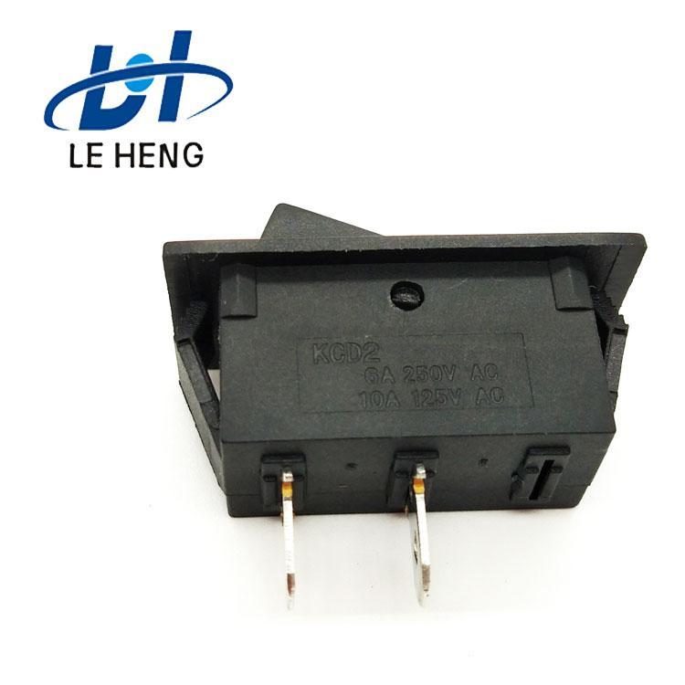 Full black two - leg two - speed electric water heater rocker switch 2