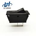 Full black two - leg two - speed electric water heater rocker switch 3