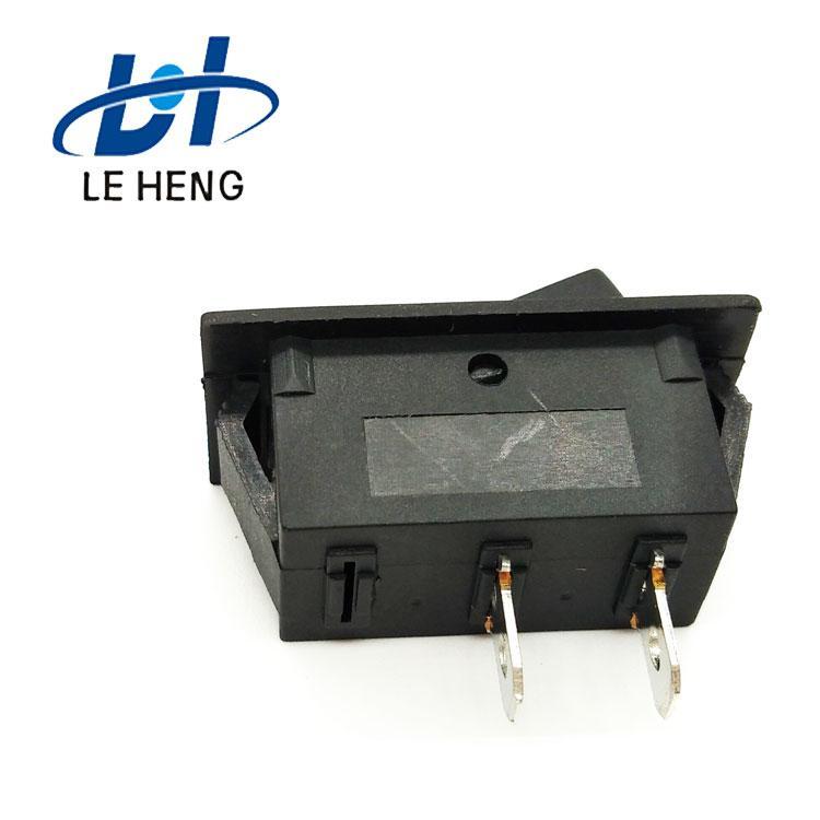 Full black two - leg two - speed electric water heater rocker switch 4