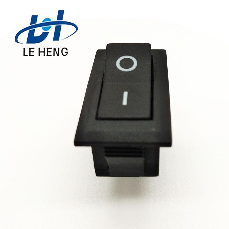 Full black two - leg two - speed electric water heater rocker switch 5