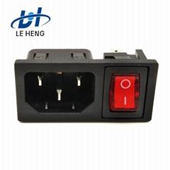 厂家直销DB系列充电插座品字接口直流插座
