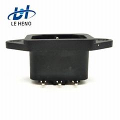 厂家供应多功能带耳电源品字阻燃插座