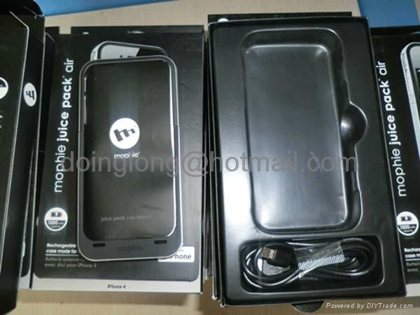 Mophie Juice Pack Air Mobile Phone Battery Pack Case Use For Apple iPhone 4 4G 3