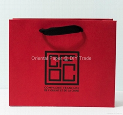 Paper Bag with Hot Foil Stamping & Embossing