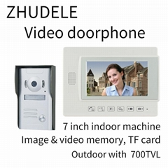 ZHUDELE  Video door phone  7-inch