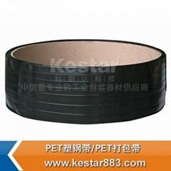 佛山科斯達長期供應高強度黑色pet塑鋼帶