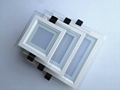 bevel edge led square Glass  panel light