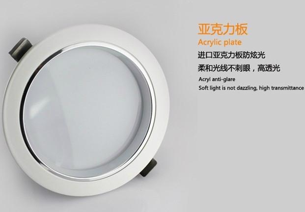 LED Down light AL+PMMA, 3W/7W/9W/12W/15W/18W 2