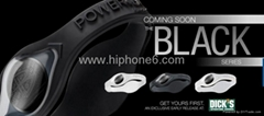 New Black Hologram Power Balance silicon bracelets C/W New gift box