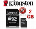 China manufacturer Kingston MicroSD card Memory Card,TF Card 2GB