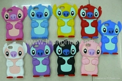 Hot selling Fashion 3D stitch Silicone case for iphone 4/4s 5g