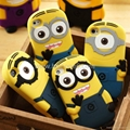 Hot selling Fashion 3D Despicable Me Minion Soft Silicone Cover for iphone 5s/5,