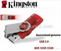 Kingston DT101 G2 16GB Swivel Capless USB Pen Drive Flash Memory RETAIL PACKS
