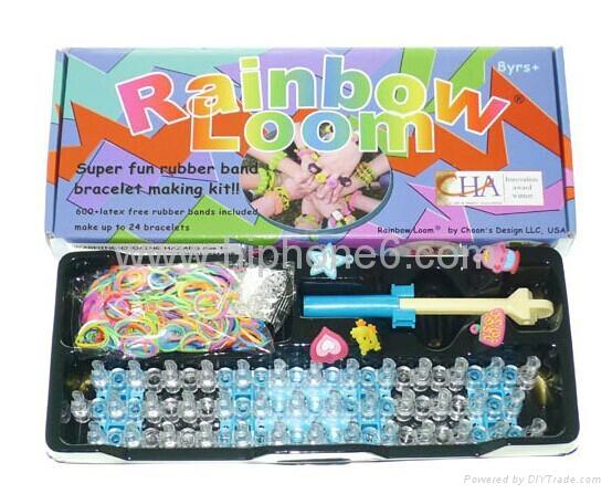 2014欧美爆款DIY Rainbow loom kit 彩色编织工具批发直销 1