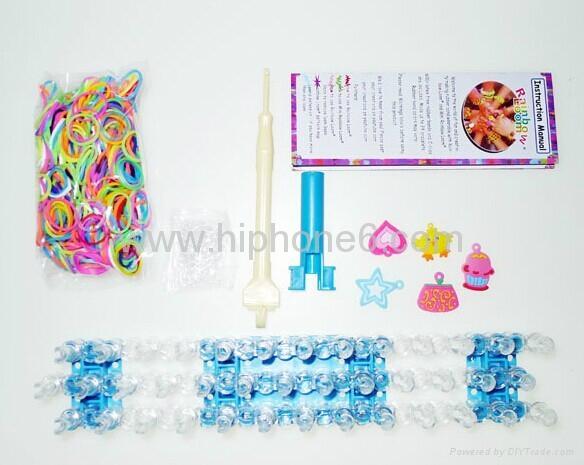 2014欧美爆款DIY Rainbow loom kit 彩色编织工具批发直销 2