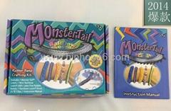 DIY monster tail Rainbow loom Bands storage box bracelet making kit