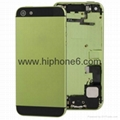 Original replacement parts iphone 5s housing cover battery back rear door