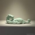 寶齊萊新青釉辰龍動物擺件