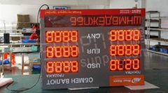 LED exchange rate board factory
