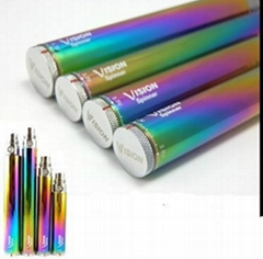 Rainbow color Vision Spinner VV eGo twist Battery