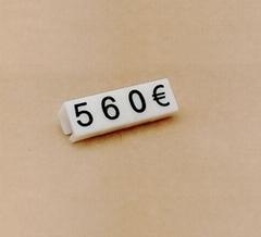 Mini price tags plastic
