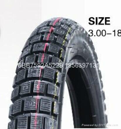 高品質摩托車輪胎300-18 1