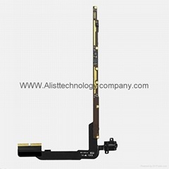 For iPad 3 4 Volume Headphone Audio Headset Jack and PCB Board Flex Cable