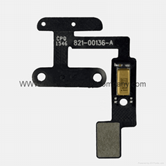 For iPad mini 4 Power Button Connector Mic Microphone Flex Cable