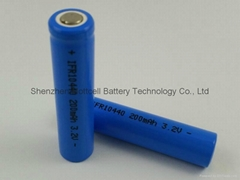 磷酸铁锂电池IFR10440 200mah 3.2v