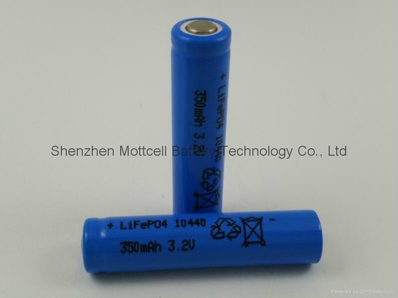 磷酸铁锂电池IFR10440 200mah 3.2v  3
