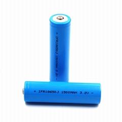 太陽能路燈磷酸鐵鋰電池IFR18650 1500mAh 3.2V