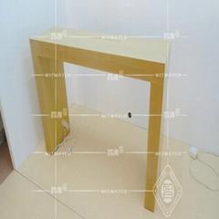 木紋體驗桌平果展示櫃台