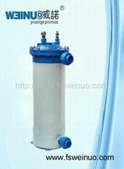 Marine titanium heat exchanger