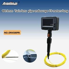 8.0mm Dual camera pipe endoscope 10 meters long
