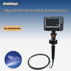 6mm 720P HD optical fiber lighting industrial endoscope