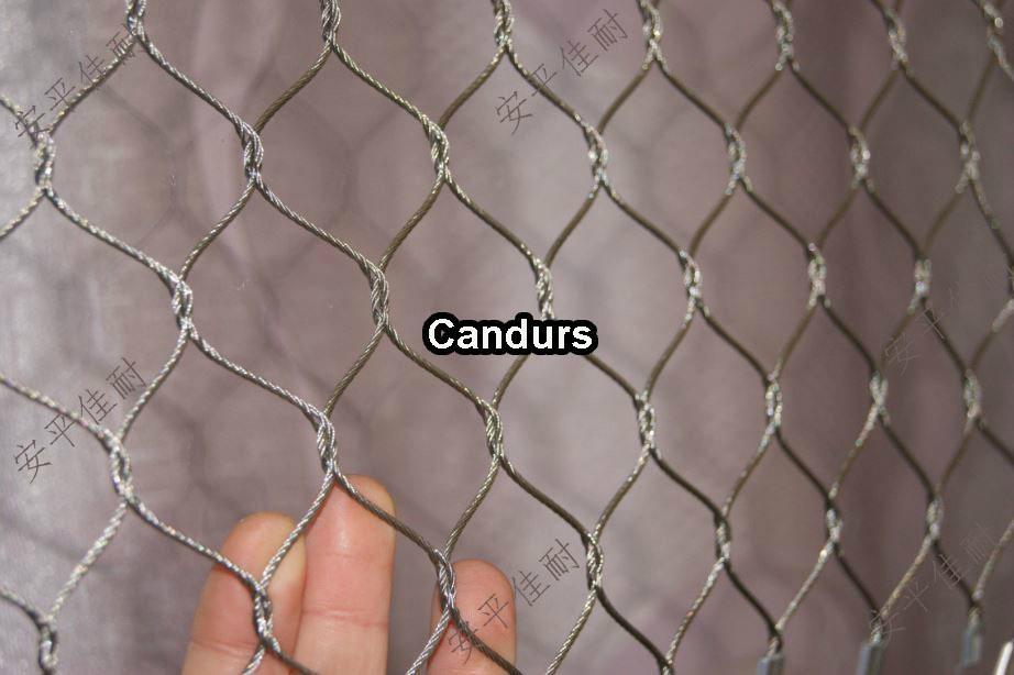不锈钢有节绳网-不锈钢编织绳网-不锈钢钢丝绳网 1