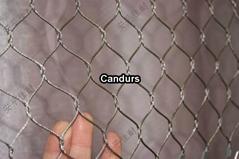不锈钢有节绳网-不锈钢编织绳网-不锈钢钢丝绳网