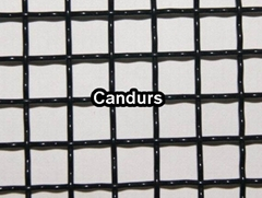 Black Powder Woven Stainless Steel Wire Mesh Panel