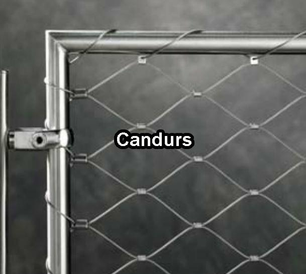 Stainless web net tubular frame tf 01 candurs china for Tubular window design