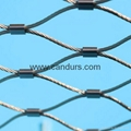 2 mm 35 mm x 61 mm Architectural Flexible Inox Cable Sleeve Mesh