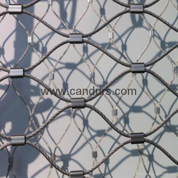 不鏽鋼繩動物隔離網 3