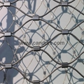 1 mm 40 mm x 70 mm Flexible Stainless Steel Diamond Wire Cable Mesh