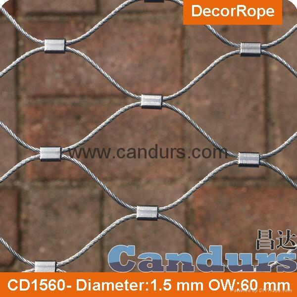 美标316不锈钢丝绳套环网 6