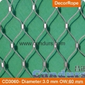 3D Architectural Flexible Stainless Steel Cable Ferruled Wire Netting