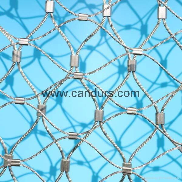 專業小孔徑鋼絲繩網 4