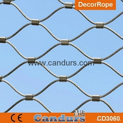 Ferruled Stainless Steel Cable Wire Rope Monkey Enclosure Mesh In Zoo