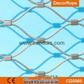 Ferruled Stainless Steel Cable Wire Rope Leopard Enclosure Mesh In Zoo